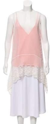 Altuzarra Sleeveless Lace-Trim Tunic