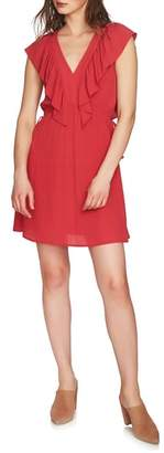 1 STATE 1.STATE V-Neck Ruffle Edge Dress