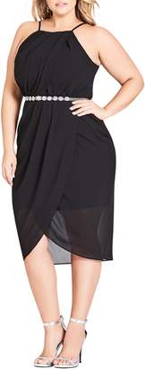 City Chic Wrap Love Belted Dress
