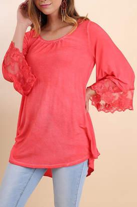 Umgee USA Garment Dyed Top