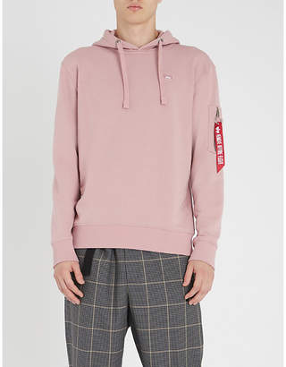 Alpha Industries Logo-embellished cotton-jersey hoody