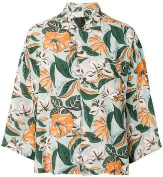 R 13 floral pattern blouse
