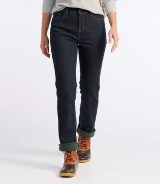 Women's True Shape Jeans, Classic Fit Straight-Leg Fleece-Lined