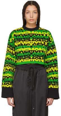 Opening Ceremony Green Racer Logo Cropped Sweater