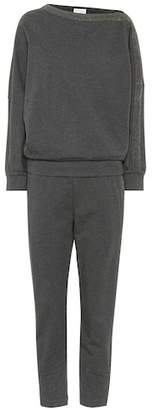 Brunello Cucinelli Stretch-cotton top and pant set