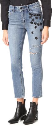 PAIGE Jacqueline Straight Jeans $339 thestylecure.com