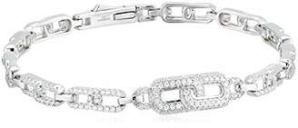 Decadence Women's Sterling Infinity Link Italian Style Charm Starter Bracelet