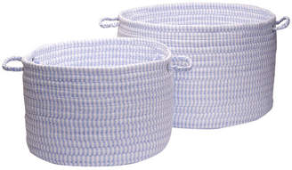 Colonial Mills Solid Ticking Storage Basket