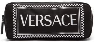 Versace Logo Print Belt Bag - Womens - Black Multi