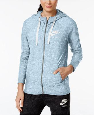 Nike Gym Vintage Full-Zip Hoodie $60 thestylecure.com