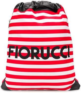 Fiorucci striped logo backpack