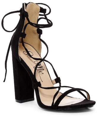 SoMe Charlotte Lace-Up Ankle Strap Sandal