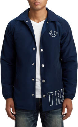 True Religion MENS WRAP LOGO COACH JACKET