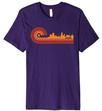 Retro Style Newark New Jersey Skyline T-Shirt