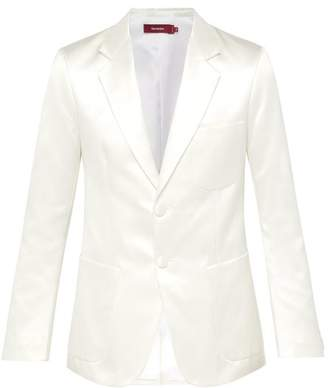 Sies Marjan Roger Single Breasted Satin Blazer - Mens - White