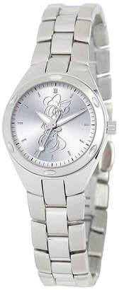 Disney Minnie Mouse Womens Silver Tone Bracelet Watch-59006-1