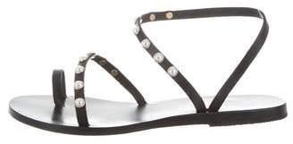 Ancient Greek Sandals Embellished Slingback Sandals