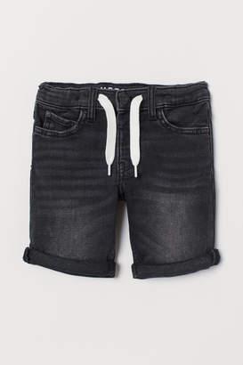 H&M Super Soft Denim Shorts - Black