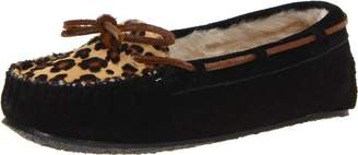 Minnetonka Women's Leopard Cally Slipper Moccasin