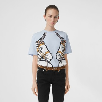 Burberry Unicorn Print Cotton Oversized T-shirt