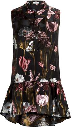 Erdem Lys Floral Sleeveless Shirt