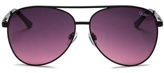 Quay Women's x Chrissy Teigen Vivienne Aviator Sunglasses, 60mm