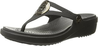 crocs Women's Sanrah Circle Flip Wedge $24 thestylecure.com