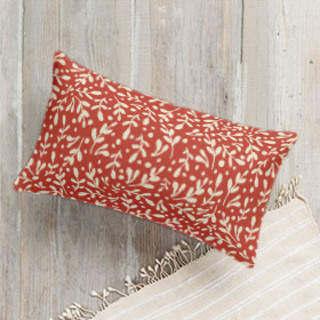 Winter Leaves & Berries Lumbar Pillow
