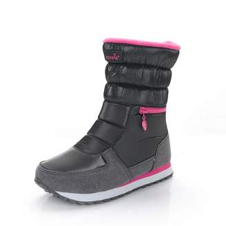 PAMRAY Women Winter Boots Snow Warm Waterproof Fur Lined Windproof Slip on Shoes High top Platform Cozy Cotton Fashion Zip Booties 40