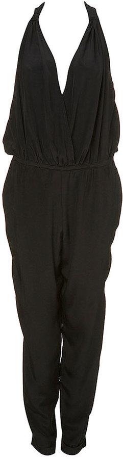 Premium Silk Halter Jumpsuit