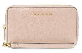 MICHAEL Michael Kors Mercer Large Leather Wristlet