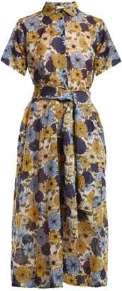 Lisa Marie Fernandez Floral-print short-sleeved cotton dress