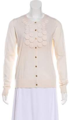 Tory Burch Long Sleeve Wool Cardigan