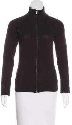 Fendi Wool Zip-Up Sweater