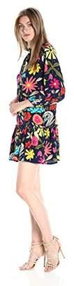 Trina Turk Women's Corozone La Habana Jardine Crepe Dechine Dress