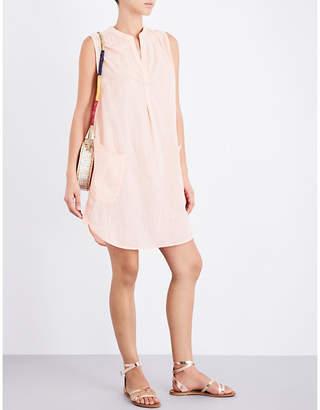 Seafolly Ladies Peach Round Practical Sleeveless Boyfriend Cotton Beach Shirt $54 thestylecure.com