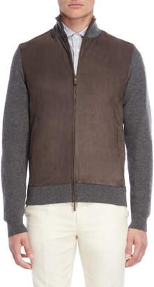 Luciano Barbera Mix Media Zip Jacket