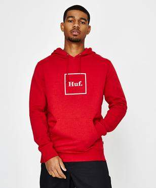 HUF Box Logo P O Hoodie