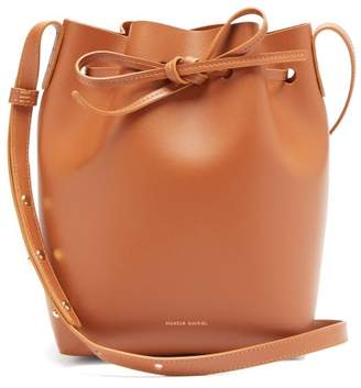 Mansur Gavriel Mini Leather Bucket Bag - Womens - Tan