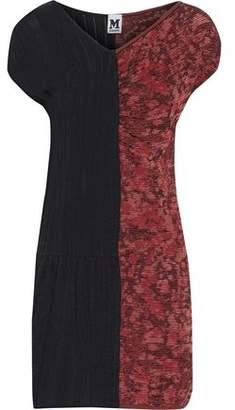 M Missoni Paneled Crochet-Knit Stretch-Knit And Bouclé Mini Dress