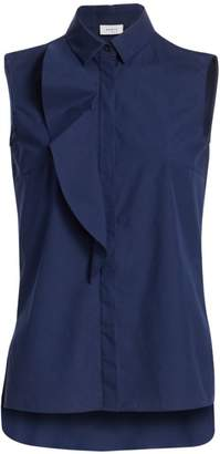 Akris Punto Sleeveless Ruffled Blouse