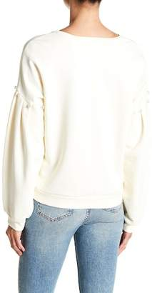 Rebecca Minkoff Ellison Embellished Balloon Sleeve Sweatshirt