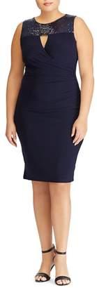Lauren Ralph Lauren Sequin Yoke Sheath Dress