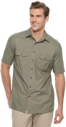 Croft & Barrow Big & Tall Regular-Fit Crosshatch Button-Down Shirt