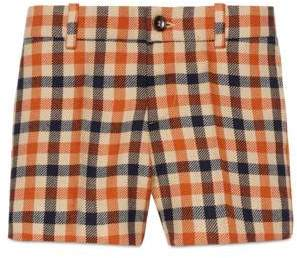 Gucci Children's check wool short pant