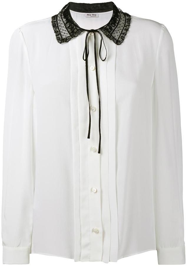 Miu MiuMiu Miu lace collar blouse