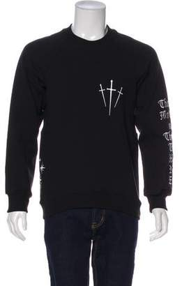 En Noir Graphic Embroidered Crew Neck Sweater w/ Tags