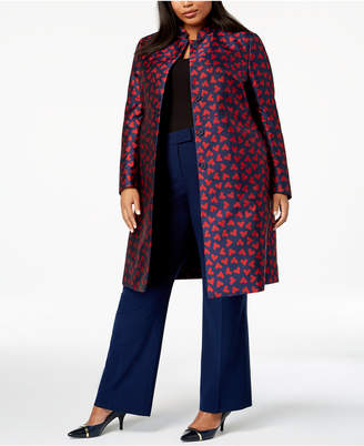 Anne Klein Plus Size Printed Topper Jacket