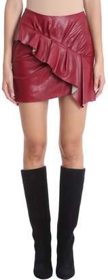 Etoile Isabel Marant Burgundy Cotton Zeist Skirt
