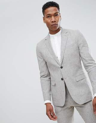 Jack and Jones Slim Fit Linen Suit Jacket